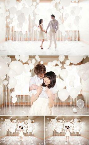 White wedding balloon