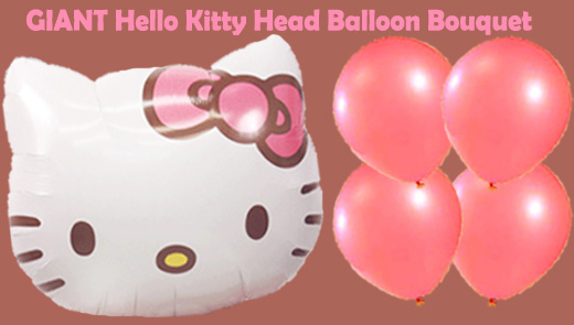 GIANT Hello Kitty Balloon Bouquet