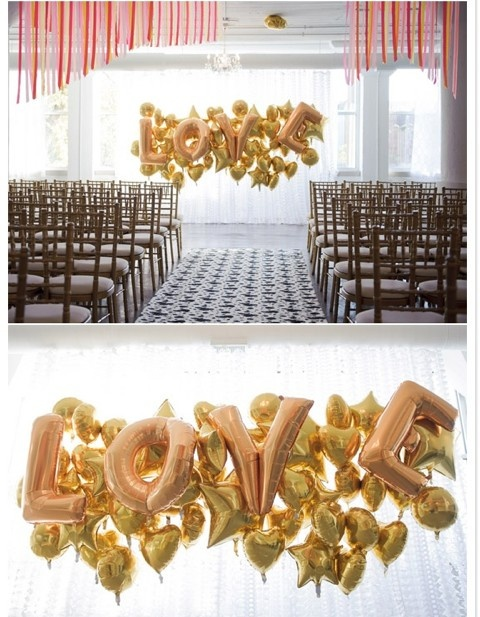 Gold Wedding Balloons