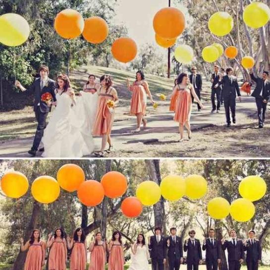Bright Wedding Balloon March