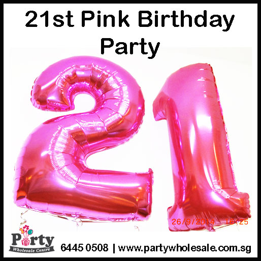 21st-Pink-Number-Balloons