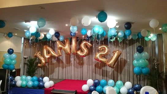 21st Birthday Party Stage Decoration