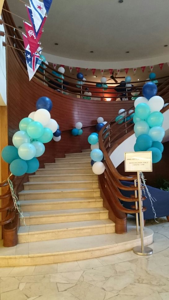 Classic Tiffany Stariwell Balloons for 21st Birthday Party