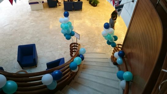 Stairwell Balloons at Republic of Singapore Yacht Club