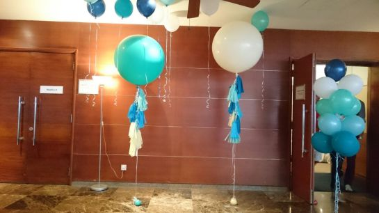 Tiffany Jumbo Balloon with Tassels