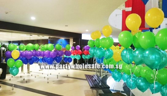 Carnival school party Colourful Helium Balloons