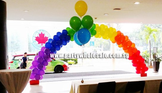 Colourful Balloon Arch Singapore
