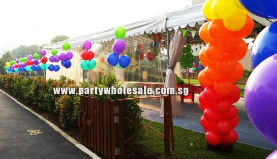 Outdoor Garden Party Helium Balloons Singapore