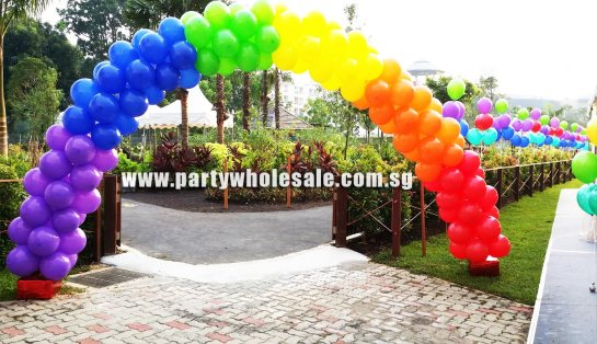 Colourful Balloon Arch