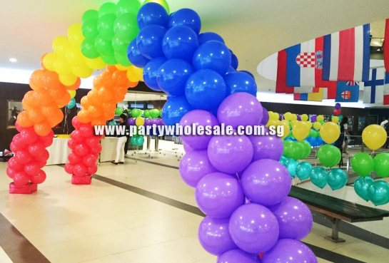 Rainbow Balloon Arch Decoration