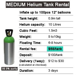 Medium Helium Tank Rental Party Wholesale