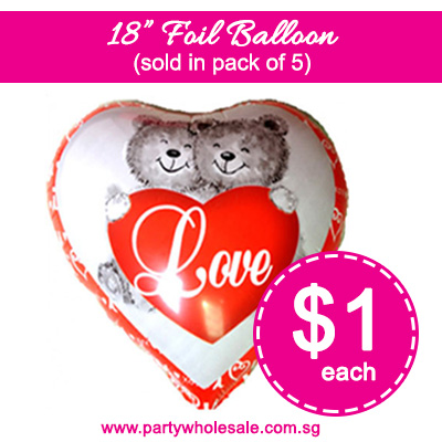 $1 Valentine's Day Balloon Cheapest in Singapore