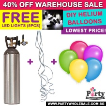 FREE LED Lights Helium Balloon Gas Tank Rental