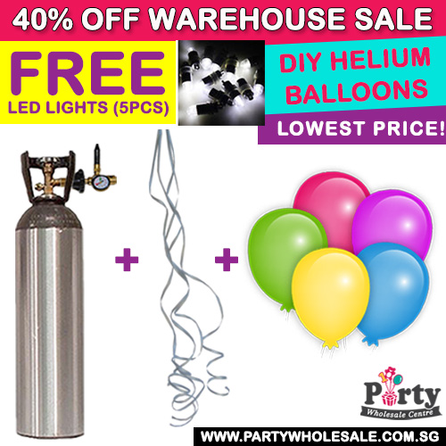 FREE LED Lights when DIY Helium balloons by Party Wholesale