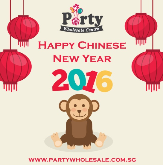 Party Wholesale Centre wishes Happy Chinese New Year 2016