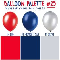 Helium Balloons Singapore Party Inspiration Colour Palette by Wholesale Centre