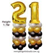 21st Balloon Columns Singapore Party Wholesale Centre Wow Lets Party