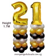 21st Balloon Columns Singapore Party Wholesale Centre Wow Lets Party