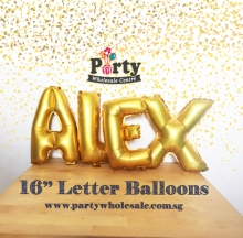 Gold Letter Balloons Singapore Party Wholesale Centre
