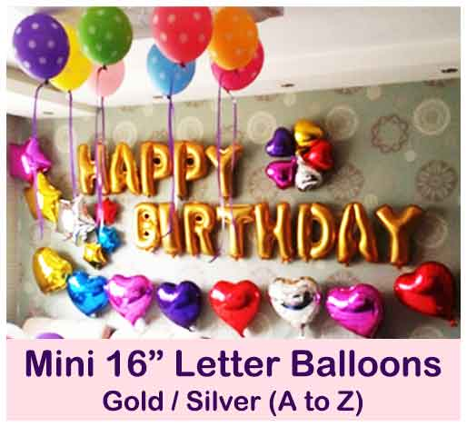 Mini Happy Birthday Custom Letter Balloon Singapore