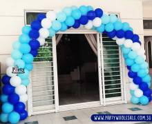 Blue Balloon Arch Singapore Party Warehouse Centre Give Fun