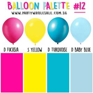 Helium Balloons Singapore Party Colour Inspiration Wholesale Centre