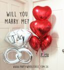 Will You Marry Me Wedding Balloons Singapore Party Wholesale Centre