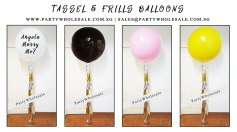Wedding Tassel Frills balloons Singapore Party Wholesale Centre