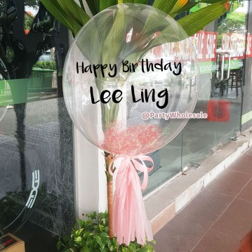 Light-Pink-Custom-Bubble-Balloon-Party-Wholesale-Singapore